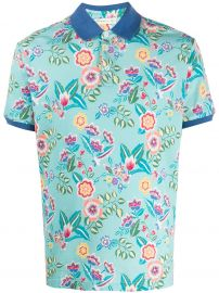 Floral Print Polo Shirt by Etro at Farfetch