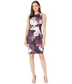 Floral Print Sheath Dress at Zappos