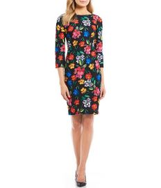 Floral Print Sheath Dress by Calvin Klein at Zappos
