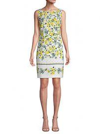 Floral Print Sheath Dress by Calvin Klein at Macys