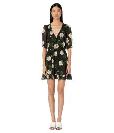 Floral Print Short Dress by The Kooples at Zappos