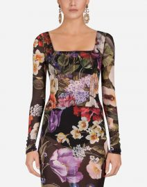 Floral-Print Silk Bustier Top by Dolce  Gabbana at Orchard Mile