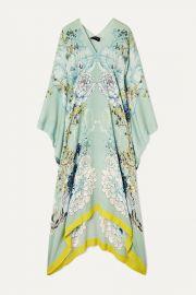 Floral-Print Silk-Satin Kaftan by Meng at Net A Porter