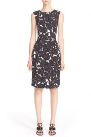 Floral Print Stretch Silk Dress by Oscar de la Renta at Nordstrom Rack
