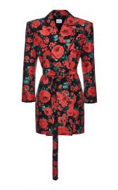 Floral Print Tuxedo Dress by Magda Butrym at Moda Operandi