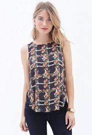 Floral Print Woven Top at Forever 21
