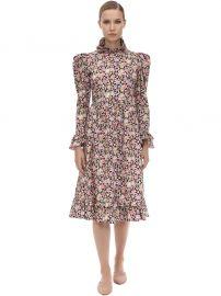 Floral Printed Cotton Midi Dress by Batsheva at Luisaviaroma