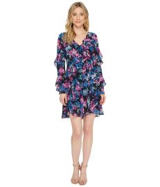 Floral Printed Dress with Ruffle Detail by Laundry by Shelli Segal at Zappos