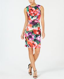 Floral Printed Sheath Dress at Macys