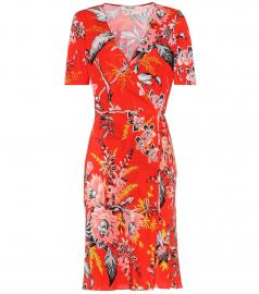 Floral-Printed Silk Wrap Dress by Diane von Furstenberg at My Theresa