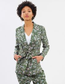 Floral Printed Vincent Silk Blazer at The Iconic