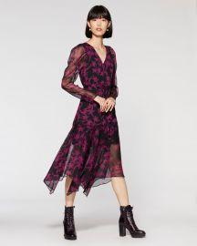 Floral Puff Shoulder Dress at Vince Camuto