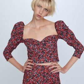 Floral Puff Sleeve Top by Zara at Zara