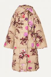 Floral Quilted Oversized Coat by Dries Van Noten at Net A Porter