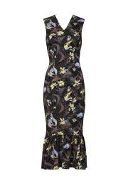 Floral Ruffle Hem Sheath by Suno at Rent The Runway