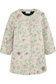 Floral Scuba Coat at Net A Porter