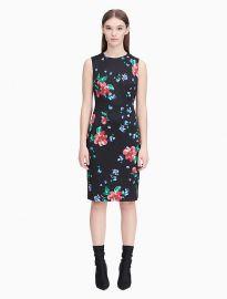 Floral Scuba Sheath Dress by Calvin Klein at Macys