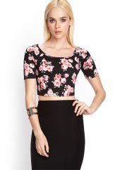 Floral Scuba Top at Forever 21