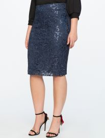 Floral Sequin Skirt by Eloquii at Eloquii