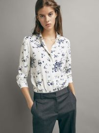 Floral Shirt at Massimo Dutti