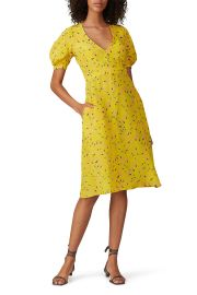 Floral Short Sleeve Dress by Rochas at Rent The Runway