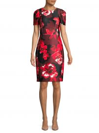 Floral Short-Sleeve Sheath Dress at Saks Off 5th