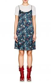 Floral Silk Charmeuse Slipdress at Barneys Warehouse