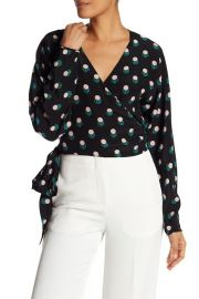 Floral Silk Wrap Blouse at Nordstrom Rack