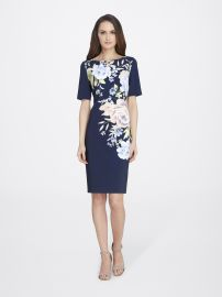Floral Smooth Crepe Sheath at Tahari ASL