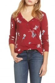 Floral Thermal Knit Shirt by Lucky Brand at Hautelook