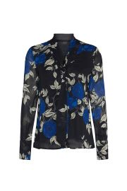 Floral Tie Neck Blouse by Jason Wu at Rent The Runway