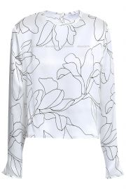 Floral Top by Equipment at The Outnet