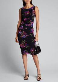 Floral Tulle Mesh Tank Dress by Fuzzi at Bergdorf Goodman