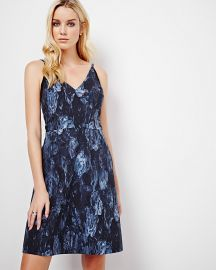 Floral V-Neck Fit And Flare Dress at RW&CO.
