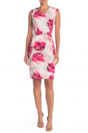 Floral V-Neck Sheath Dress by Modern American Designer at Nordstrom Rack