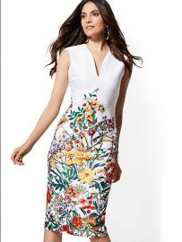 Floral V-Neck Sheath Dress by New York  Company at NY&C