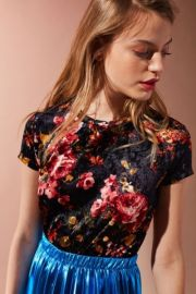 Floral Velvet Tee by Urban Outfitters at Urban Outfitters