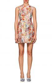 Floral Wool-Silk Crepe Dress at Barneys