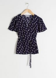 Floral Wrap Blouse by & Other Stories at & Other Stories