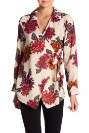 Floral Wrap Blouse by Emelia at Nordstrom Rack