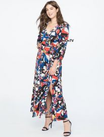 Floral Wrap Dress by Eloquii at Eloquii