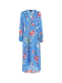 Floral Wrap Midi Dress at Karen Millen