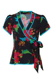 Floral Wrap Top by Nanette Lepore at Rent The Runway