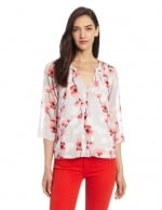Floral blouse by DKNY at Amazon