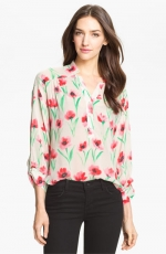 Floral blouse by Milly at Nordstrom