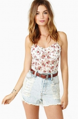 Floral bustier at Nasty Gal