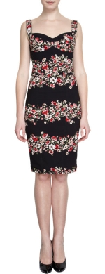 Floral bustier dress by Dolce and Gabbana at Barneys