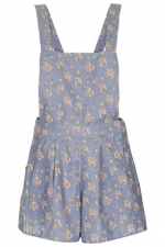 Floral chambray playsuit from Topshop at Topshop