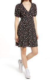 Floral deep v minidress at Nordstrom