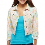 Floral denim jacket by Arizona at JCP at JC Penney